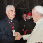 Photo Fr.Shay meets Pope Francis.