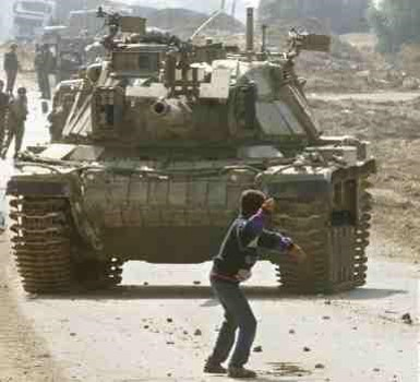 The Child Resisting The Tank